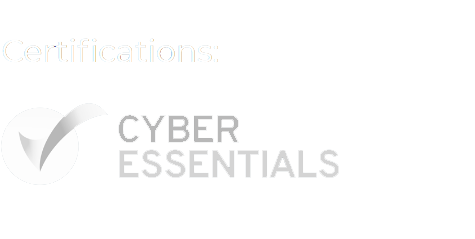 Cyber Essential white certification logo